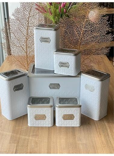 Sembol Mutfak Seti Beyaz Gümüş 7 Parça Renkli